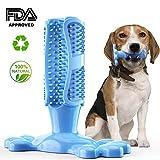 Volwco Hundezahnbürste Stick, Hunde Zahnbürste Zahnpflege Kauen Zähne Putzen Spielzeug für Hunde, Katzen, die Meisten Haustiere