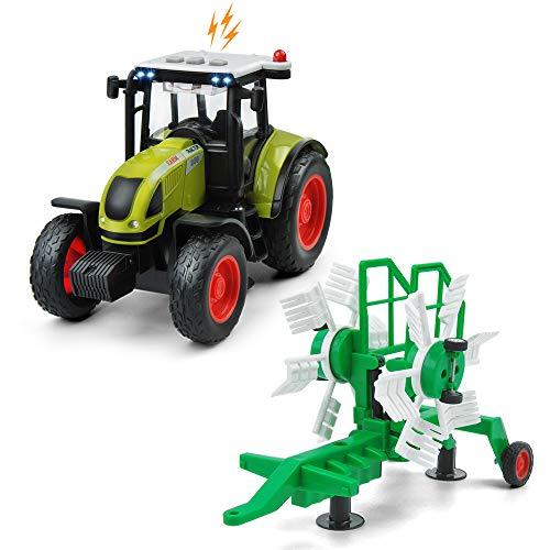 GizmoVine Tractor Juguete Coche de Juguete Coche de Friccion Camion de Juguete Coche de Juguete de Plástico Regalo de los Niños (Tractor Coche)