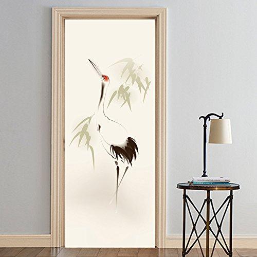 S.Twl.E Aufkleber Tür lackiert Renovierung Aufkleber selbstklebende Wasserdicht Wand Aufkleber Dekoration Tierheim Schlafzimmer für Kinder Holz, 60 x 150 cm. (Tür Tierheim)
