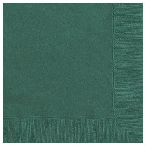 Supplies Party Wald (20 dunkelgrüne Papierservietten)