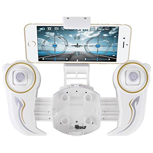 Cheerson CX-10WD-TX Fernbedienung 4CH 2,4 GHz 6-Achsen-Gyro FPV Wifi Drohne Quadcopter mit HD-Kamera High Hold-Modus, grau - 4