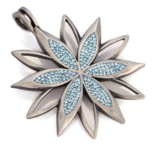 Donna cristallo swarovski lilla bico star grado di fiore ciondolo (pv9)- la vita con atmosfera e brillantezza a vita, azzurro