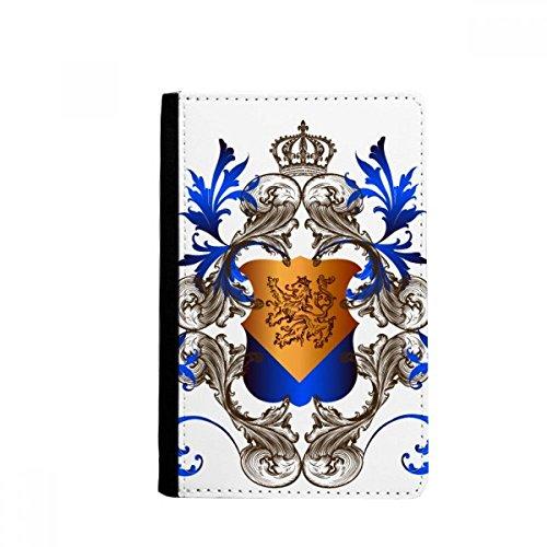 beatChong Mittelalterliche Ritter von Europa Crown Emblem Schild-Pass-Halter Travel Wallet Abdeckungs-Fall Karten-Geldbeutel