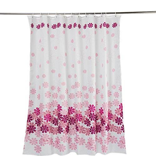 Rideaux de douche Salle de bains de polyester de rideau en douche imperméabilisent la protection de l'environnement de santé en métal opaque Durable ( taille : 220x200CM )
