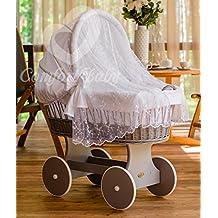 ComfortBaby ® Snuggly Baby Stubenwagen mit Moskitonetz - komplette 'all inclusive' Ausstattung - Zertifiziert & Sicher