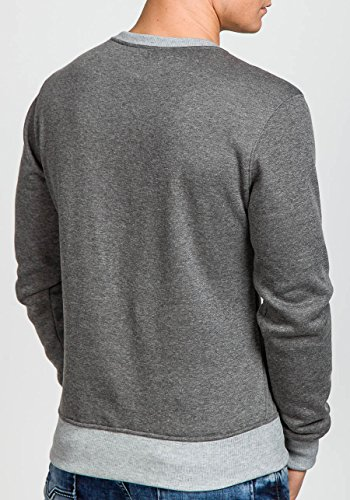 BOLF �?Felpa senza cappuccio �?Pullover �?Sweat-shirt �?MIX �?Uomo �?L Grigio [1A1] Antracite_J10