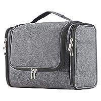حقيبة أدوات الزينة المعلقة سعة كبيرة للغاية للرجال والنساء، حقيبة دش الحمام المحمولة المقاومة للماء، حقيبة حلاقة خفيفة الوزن، حقيبة أدوات العناية الشخصية، منظم خطاف معدني قوي, , Denim Gray - 78526325