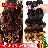 Best Grade Of Human Hair Weave - XYHair 141414, 1B/4/30: Christmas Gifts Virgin Brazilian Loose Review