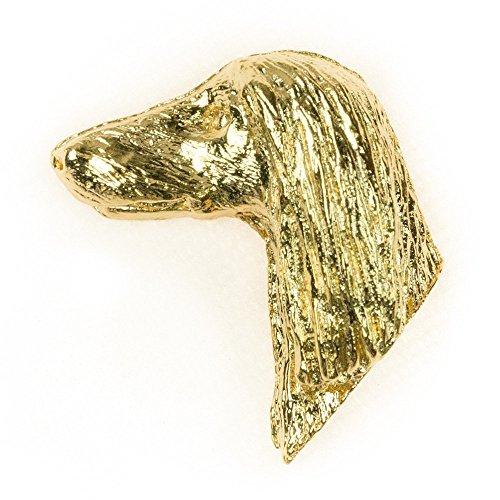 Afgahanischer Windhund Hergestellt in U.K. Kunstvolle Hunde- Anstecknadel Sammlung (22 Karat Vergoldung / gold plattiert) -