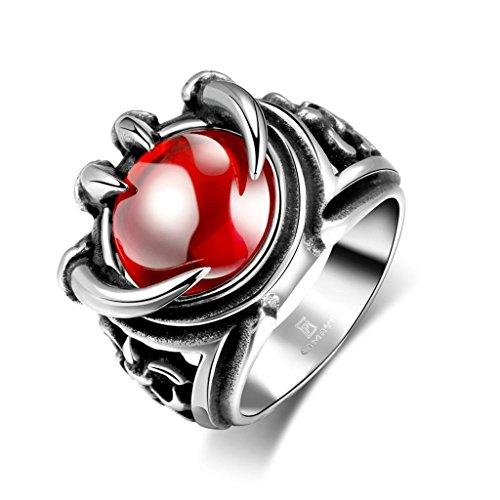 amdxd-bijoux-en-acier-inoxydable-hommes-argent-noir-gothique-bagues-rouge-pierre-sharp-pattes-taille