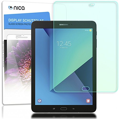 patibel mit Samsung Galaxy Tab S3, Full-Cover Displayschutz Tablet-Folie, 9H Glas-Schutzfolie Bildschirm-Abdeckung, Schutz-Film HD Screen Protector Tempered Glass - Transparent ()