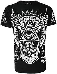 Darkside Clothing Herren T-Shirt, mit Gothic-Motiv: Das allsehende Auge