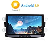 XISEDO Android 8.0 in-Dash 1 Din 8 Pouces Autoradio Voiture Radio à Écran Tactile 8-Core RAM 4G ROM 32G Car Radio Système de Navigation GPS pour Dacia Sandero/Renault Duster/Lada Xray 2 (Autoradio)