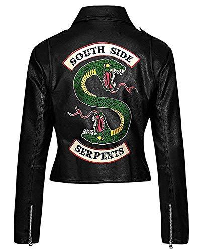 Riverdale Southside Serpents Jacket für Frauen aus Kunstleder (XXS-3XL) (XS (Größentabelle))