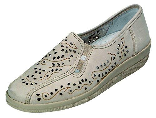 DocComfort , Chaussures de ville à lacets pour femme beige crème Crème