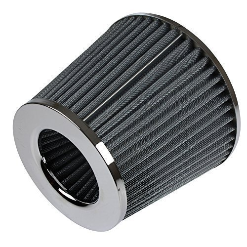 Universal High Performance Car Air Filter Induction Kit Sports Car Cone Air Filter Chrome Finish