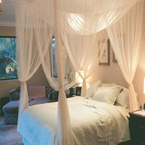 Todaytop Moskito Vorhang Vier Seiten Öffnungsart übergroßen Hause Praktische Moskitonetze für Bett Baldachin, Zelt (Beige)