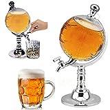 #8: GosFrid Unique Design Mini Globe Shape Home Night Club Beverage Liquor Dispenser Beer Liquid Drinking Dispenser Machine Tool