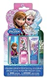 Disney Frozen 3 Piece Best Fashion Makeup Set for Girls - Lip Gloss & Balm and Nail Polish Deluxe Kit - Satisfaction Guaranteed by Disney