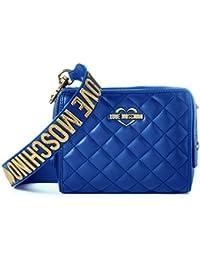 Love Moschino - Borsa Nappa Pu Trapuntata Blu, Shoppers y bolsos de hombro Mujer, Blau (Blue), 15x20x7 cm (W x H D)