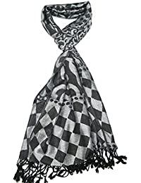Lovarzi - Bufanda de mujer - bufandas pashmina con formas florales y geométricas