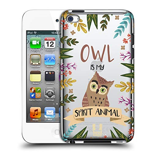 Head Case Designs Eule Seelen Tiere Abbildungen Harte Rueckseiten Huelle kompatibel mit Apple iPod Touch 4G 4th Gen (Ipod 8gb 4. Gen)