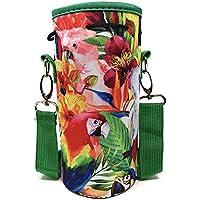 Made Easy Kit Bolsa de Neopreno para Botella de Agua con Correa Ajustable para el Hombro, Transportar Botellas de Agua de Acero Inoxidable, Botellas de Agua, Botellas de plástico