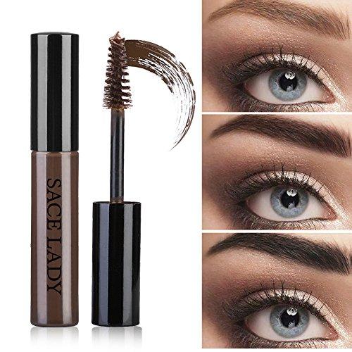 LADY Tintes para Cejas Permanentes de Maquillaje Natural Colores de Cejas en Crema Geles Líquido para Cejas con Cepillos (Negro)