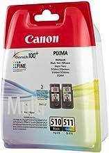 Canon PG-510 / CL-511 - Cartucho de tinta para impresoras (Negro, Cian, Magenta, Amarillo, Canon PIXMA iP2700, PIXMA MP280, 10 - 70%, 10 - 35 °C, 15 - 35 °C, 10 - 70%)
