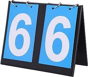 Jadeshay Scoreboard Compte-Rendu de Score de Tableau de Bord Portable /à 2//3//4 Chiffres pour Le Basket-Ball de Tennis de Table