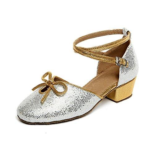 scarpe da ballo latino per bambini/ scarpe latino per bambini per ragazze/ dancing shoes/Scarpe di ballo Ladies O