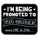 Pearhead's reusable and customizable Sibling Announcement Chalkboard helps share the news of your new arrival with your loved ones. Includes white, blue, and pink chalk to customize your announcement. Have fun posing your little pearhead next to the ...