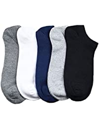 LealDealz Premium Cotton Ankle Socks for Men and Women - Pack of 5 Assorted colours