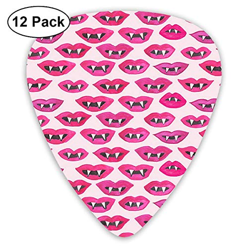 Red Lips of The Devil Classic Colorful Guitar Picks Plectrums for Electric Guitar, Acoustic Guitar, Mandolin, and Bass - 12 Pack Devils Camo