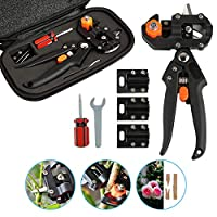 Ballery Grafting Tool Set, Garden Pruning Shear Scissors Snip Grafting Tool Kit, Professional Gardening Grafting Tools with Omega-Cut U-Cut V-Cut Ω for Plant Branch Twig Vine, Fruit Trees, Bonsai