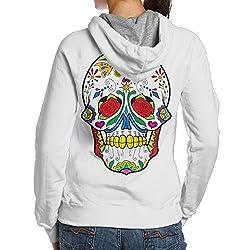 Sugar Skull Dia De Los Muertos Dia De Los Muertos Women's Pullover Hoodie, Hooded Sweatshirt
