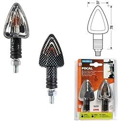 Compatible avec Suzuki GSF 600 Bandit S Paire DE Feux À Lampe 21W en Carbon Look HOMOLOGUÉ 90066 Lampe Focal INDIcateurs de Direction