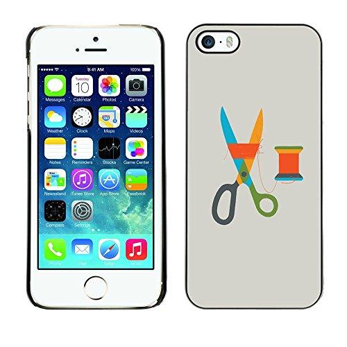 SKCASE Center / Protettiva Custodia CASE COVER - Forbici Grey Design Moda Sarta - iPhone 5 / 5S