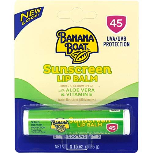 Banana - Aloe Vera Avec De La Vitamine E Sunscreen Baume À Lèvres Spf 45