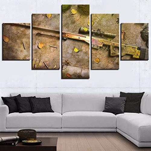 JSYC 5 Pinturas de Lienzo HD impresión decoración Moderna para el hogar de los niños habitación Arte de Pared Póster 5 Piezas Juego de Pistola Pintura Lienzo imágenes