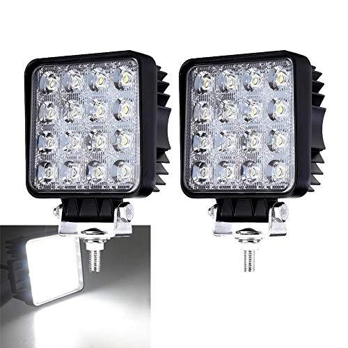 2X 48W LED Arbeitsscheinwerfer 12V 24V Scheinwerfer Flutlicht Offroad Kaltweiß Rückfahrscheinwerfer IP67