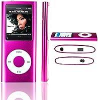 LA Dernière Version LECTEUR MP3/MP4 - SAVFY® - Ultra-Mince Avec 1,8 Pouces TFT écran 16Go Fuschia, interface Mini-USB, vidéo, musique, jeux et films, photos Parcourir, E-book Reader