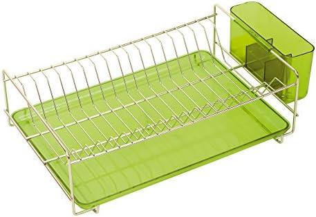 Sauvic 91030Scolapiatti, in acciaio inox 18 verde, 8, piano, verde, 18 38,5 x 25 x 12cm. 6b2bd8