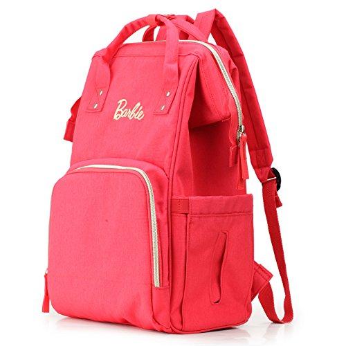 Barbie Zaino da Viaggio per Mamma e Papà Multifunzionale e Grande capacità dalla Serie di Fashionistas Colore Rosso Grigio Nero #BBBP162 Rosso