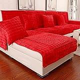 Cubre sofá europeo,Tela Moderno Simple Protector para sofás Anti-que patina Sofá Felpa Asien...