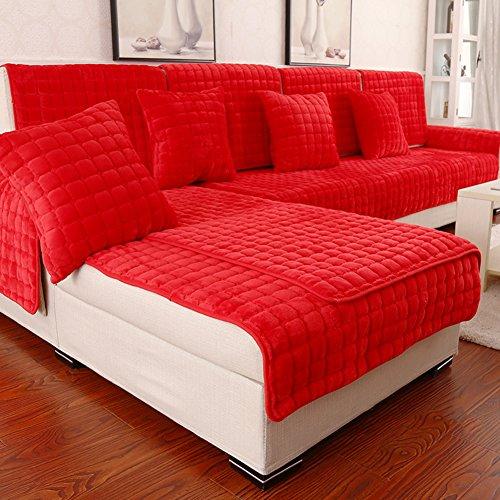 Jiejing europeo copridivani,tessuto moderna semplice coprisofà anti-slittamento divano peluche cuscino generale soldi lavabile venduto a pezzo-d 43x83inch(110x210cm)