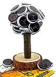 Hopfenblüte Magnetbaum Holz – Männer Geschenk Geburtstag - Partygeschenk - Bis zu 60 Kronkorken – Magnetbaum - Bier (Bild: Amazon.de)