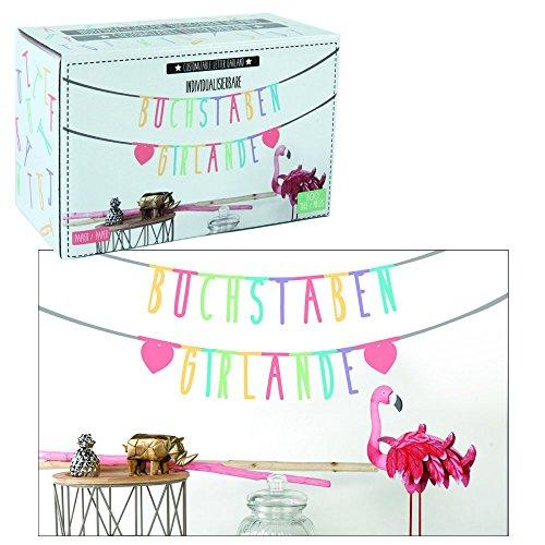"Girlande \""Message\"" 100-Teile individualisierbar bunt DIY Buchstabengirlande Banner"