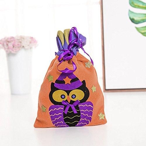 der Treat Kürbis Tasche Kids Geschenk Beute Süßigkeiten Halloween (Bewegliche Halloween Dekoration)