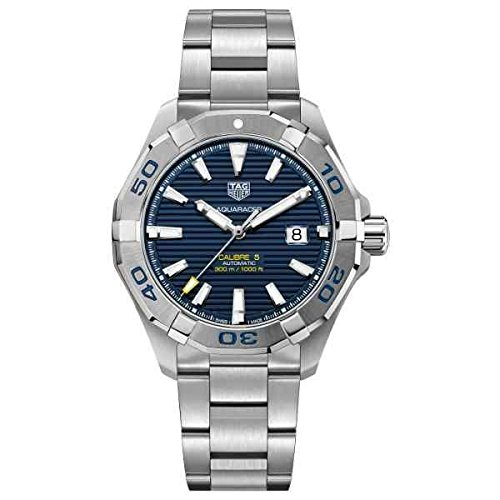 TAG HEUER MEN'S AQUARACER 43MM STEEL BRACELET AUTOMATIC WATCH WAY2012.BA0927